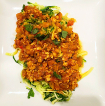 Zoodles with Bolognese